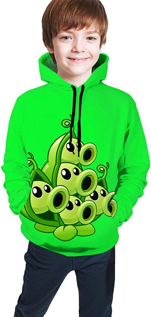 Plants Vs. Zombies Funny and Good-Looking Teen Hooded Sweate Jacket Black Comfortable Classic Boy and Girl Unisex-Baby