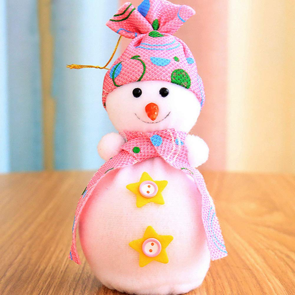 YaptheS Christmas Eve Cute Wrapping Snowman Shaped Candy Cookie Apple Bags Christmas Decoration Supplies-Pink Christmas Gift by YaptheS (Image #2)
