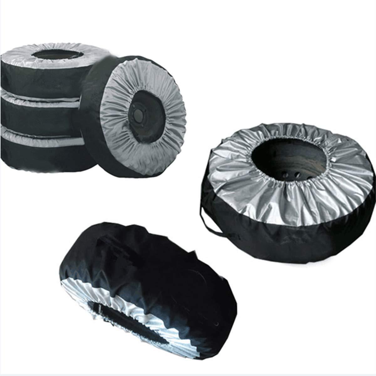 1 Reifen-Aufbewahrungstasche Protector Rain Dust Proof Techwills Reifenabdeckung Ersatzteil f/ür Autoreifen Black /& Silver f/ür 13-19-Zoll-Reifen