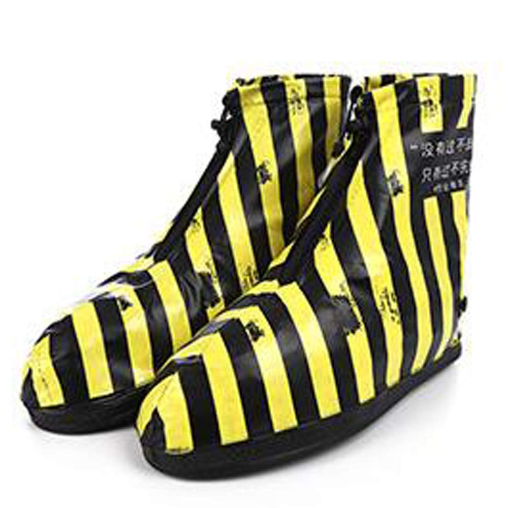 WUZHONGDIAN Shoe Cover, Waterproof Boots and Wearable Shoe Covers, Reusable Non-Slip Rain and Snow Shoe Covers (Color : Yellow, Size : L) by WUZHONGDIAN