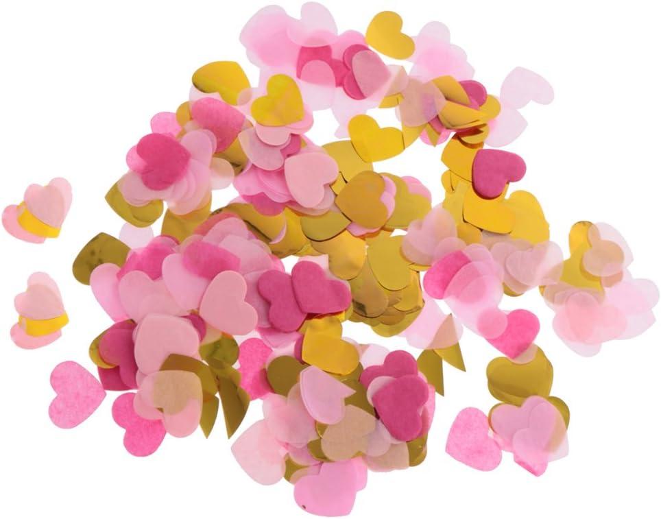 IPOTCH 1400 Piezas Confeti en Forma de Corazón Papel de Seda ...