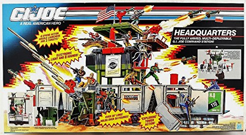 G.I. Joe Headquarters Vintage 1991 Huge Action Figure Playset ()