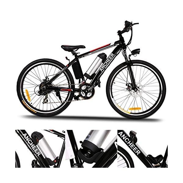 ANCHEER Bicicletta Elettrica Pieghevole Bici da Montagna Ebike con Batteria al Litio da 26 Pollici Grande capacità 36V… 4 spesavip