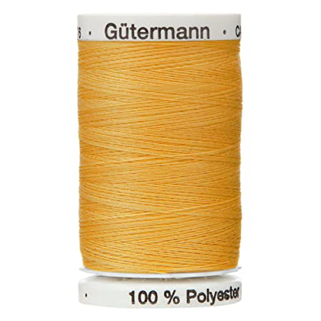 Polyester THREAD Upholstry Jeans Denim Button Sewing Craft Gold Color