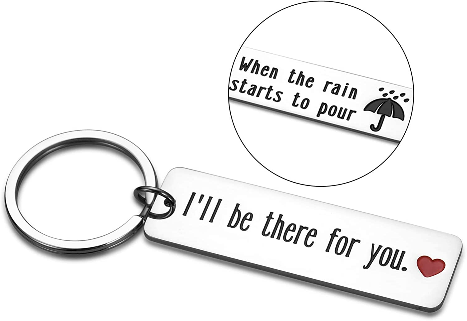 Best Friend Gift Keychain I'll Be There for You Key Ring for BFF Boyfriend Girlfriend Sister Dad Mom TV Show Merchandise Quote Friendship Birthday Christmas Valentines Gifts for Women Men Fans
