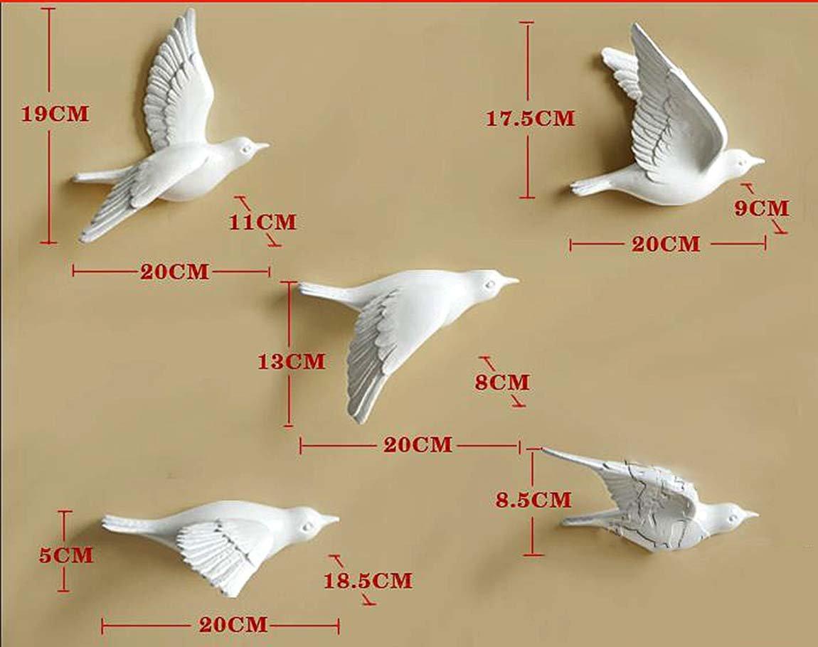 Di Grazia 3D Ceramic White Birds Wall Decoration: Amazon.in: Electronics