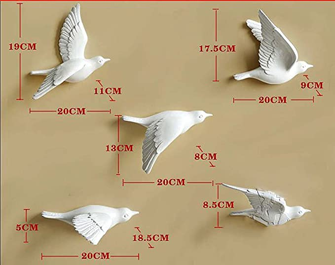 Attractive Ceramic Birds Wall Decor Image Collection - Wall Art ...