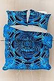Sophia Art Exclusive Meditation Buddha Mandala Bedding Bohemain Cotton Mandala Duvet Cover, Boho Mandala Duvet Cover With Pilow Cover (Sky Blue)