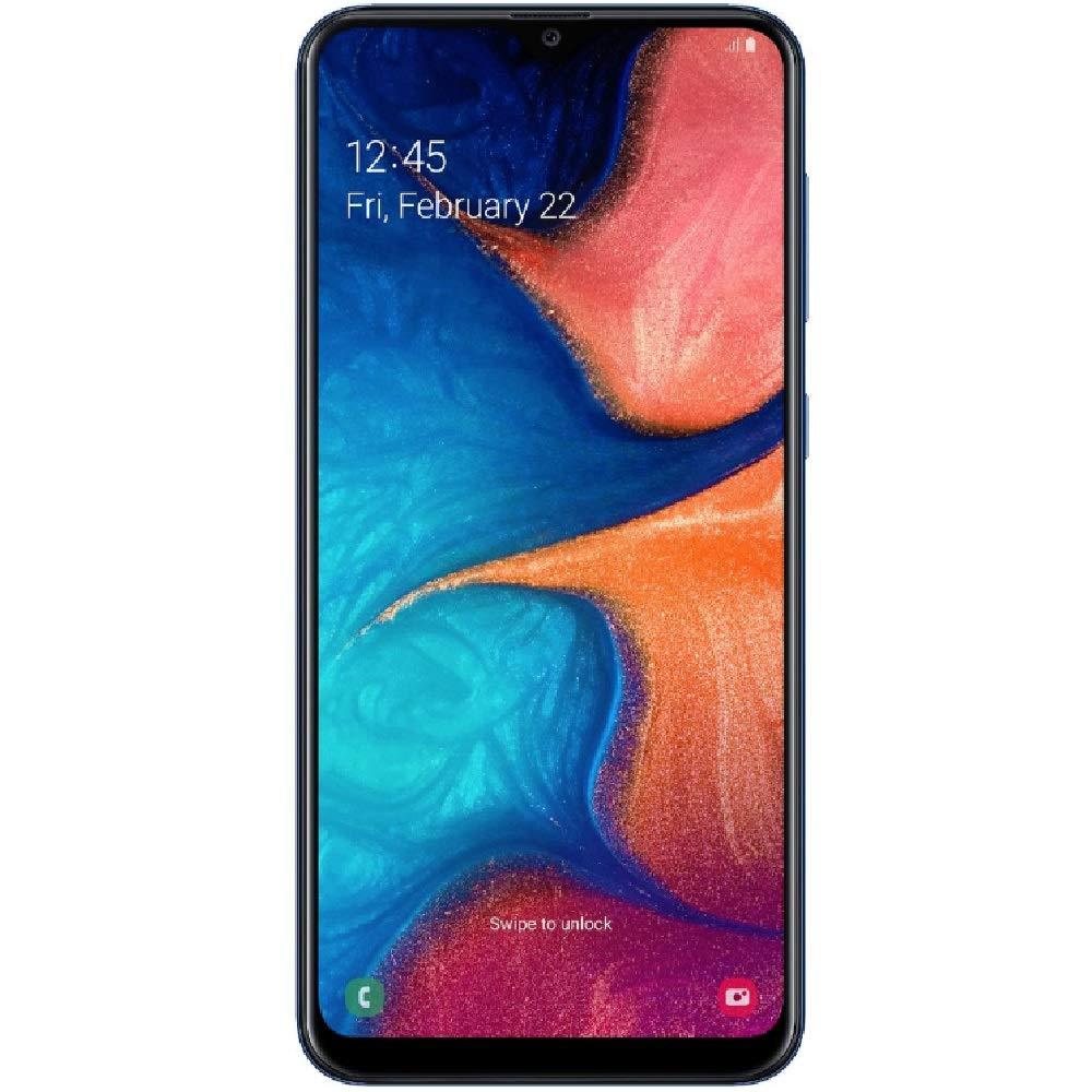 Samsung Galaxy A20 32GB A205G/DS 6.4'' HD+ 4,000mAh Battery LTE Factory Unlocked GSM Smartphone (International Version, No Warranty) (Deep Blue) by Samsung