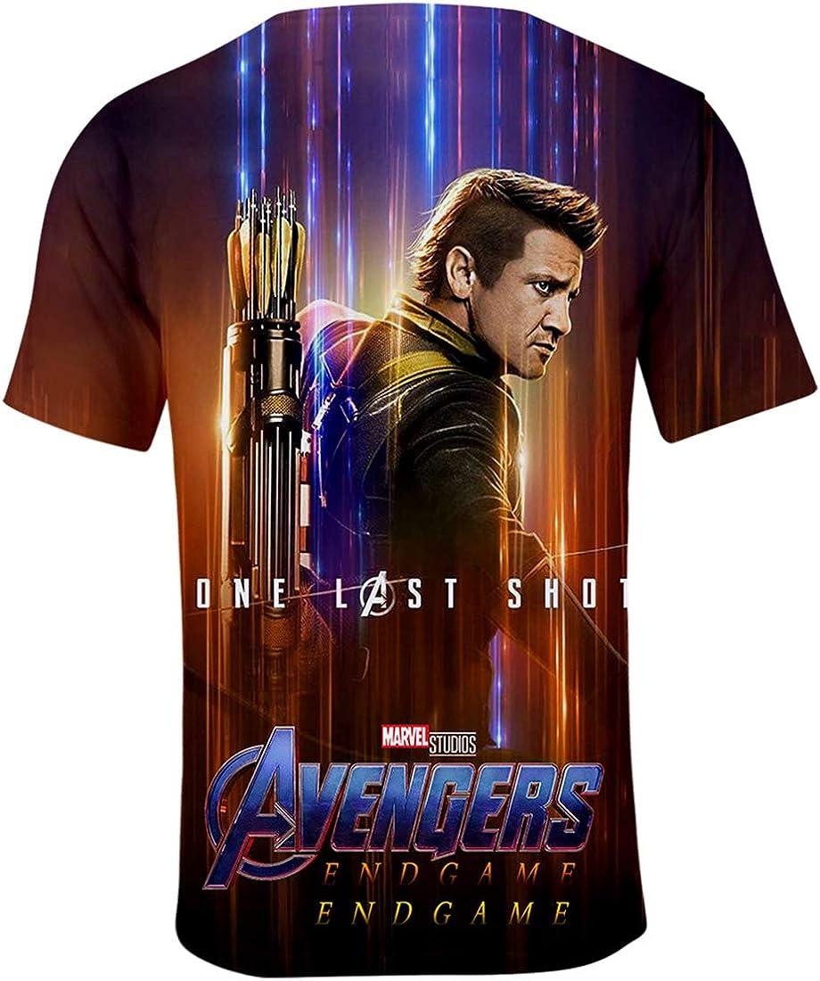 PANOZON T-Shirts 3D Stampa Figura di Avengers Endgame Film Girocollo Sportivo Maglietta in Forma Top per Ragazzi