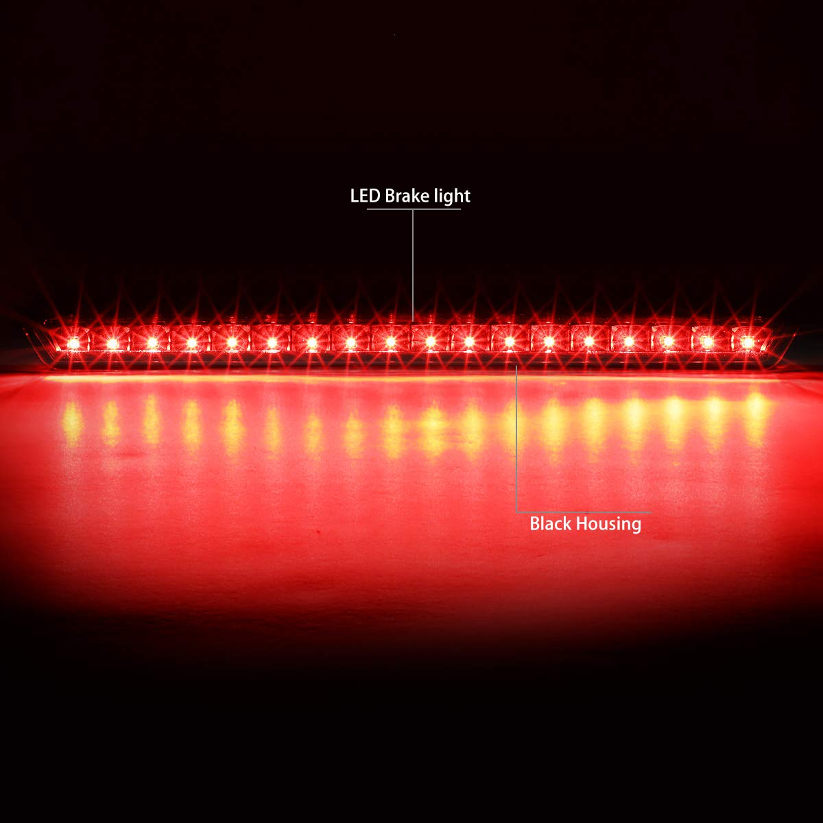 Amazon.com: DNA Motoring 3BL-GMCD15-LED-BK 3D LED Bar 3rd Third Brake Lamp/Light: Automotive