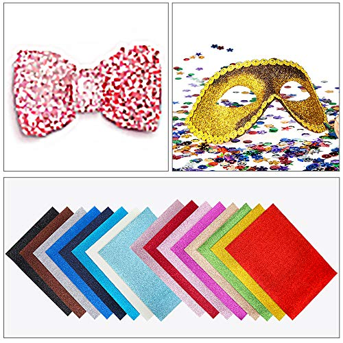 Hair Bows Sewing Material and Festival Decor Pouches Zobidobi Upgrade 10PCS Double-Sided Faux Leather Sheets for DIY Craft Glitter Leather Fabric for Earring Making 12.6x8.6