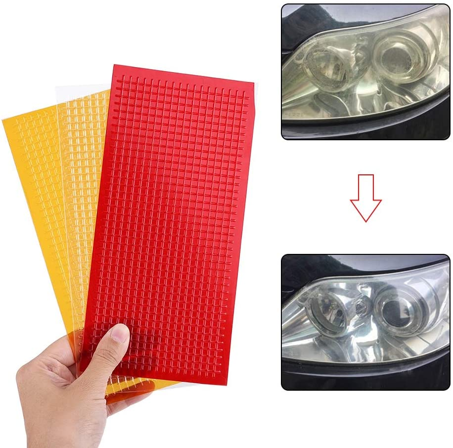 Head Light Lens Repair Piece Blue Star Auto Reverse Light SMOOTH Clear Tail Light