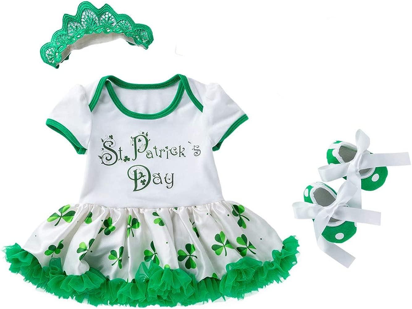 Xmiral 3Pcs Vestido de Mameluco para Niñas Bebes Recien Nacido con ...