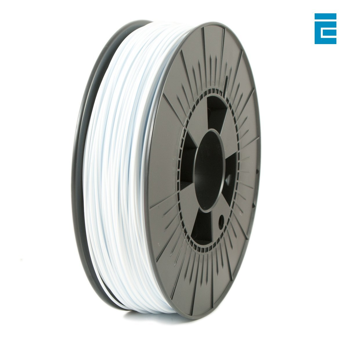 Ice Filaments ICEFIL1PLA119 Filamento PLA 1.75mm, 0.75kg, Bianco Brillante Dutch Filaments