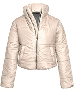 94ddc2860a4 Shelikes Womens Cropped Puffer Coat Warm Fashion Top Quilted Padded Jacket  Winter Puffa