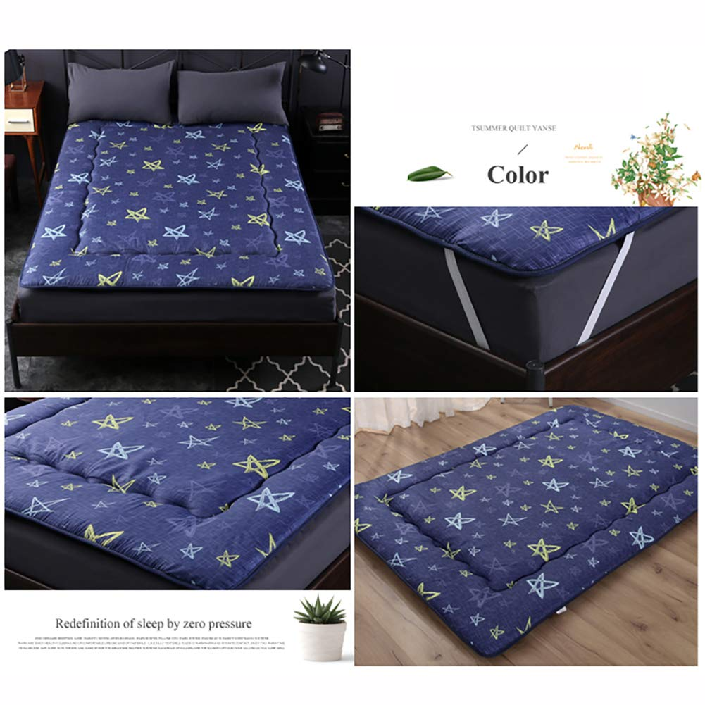 Amazon.com: DULPLAY Thickened Flannel Tatami Mattress Protector Futon, Collapsible Bedroom Bed mats Mattress Topper Breathable Floor Sleeping pad-F ...