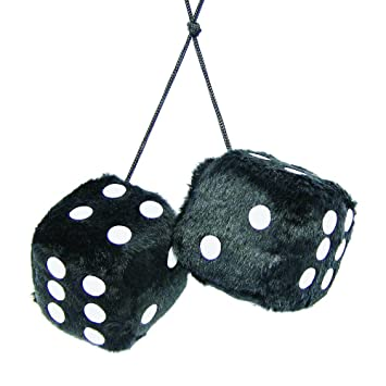 Carpoint 0510080 Fuzzy Dice Black Amazon Car Motorbike