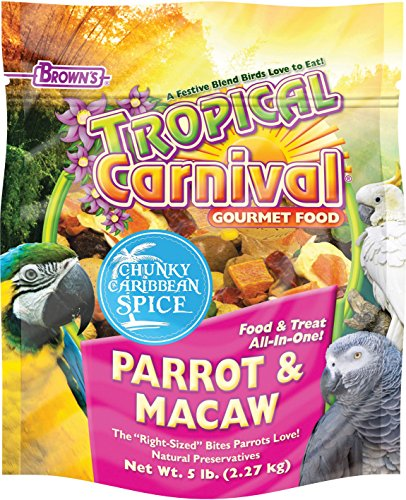 F.M. BROWNS - PET 118601 Tropical Carnival Chunky Carribean Spice Parrot, 5 lb, 1Piece