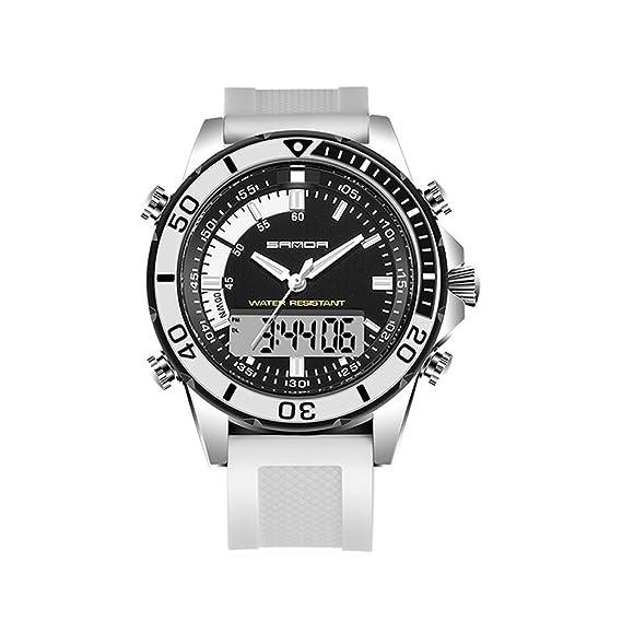 Relojes Deportivos para Hombre, Mujer Analógico Digital Reloj Militar Doble Esfera Business Casual multifunción electrónico