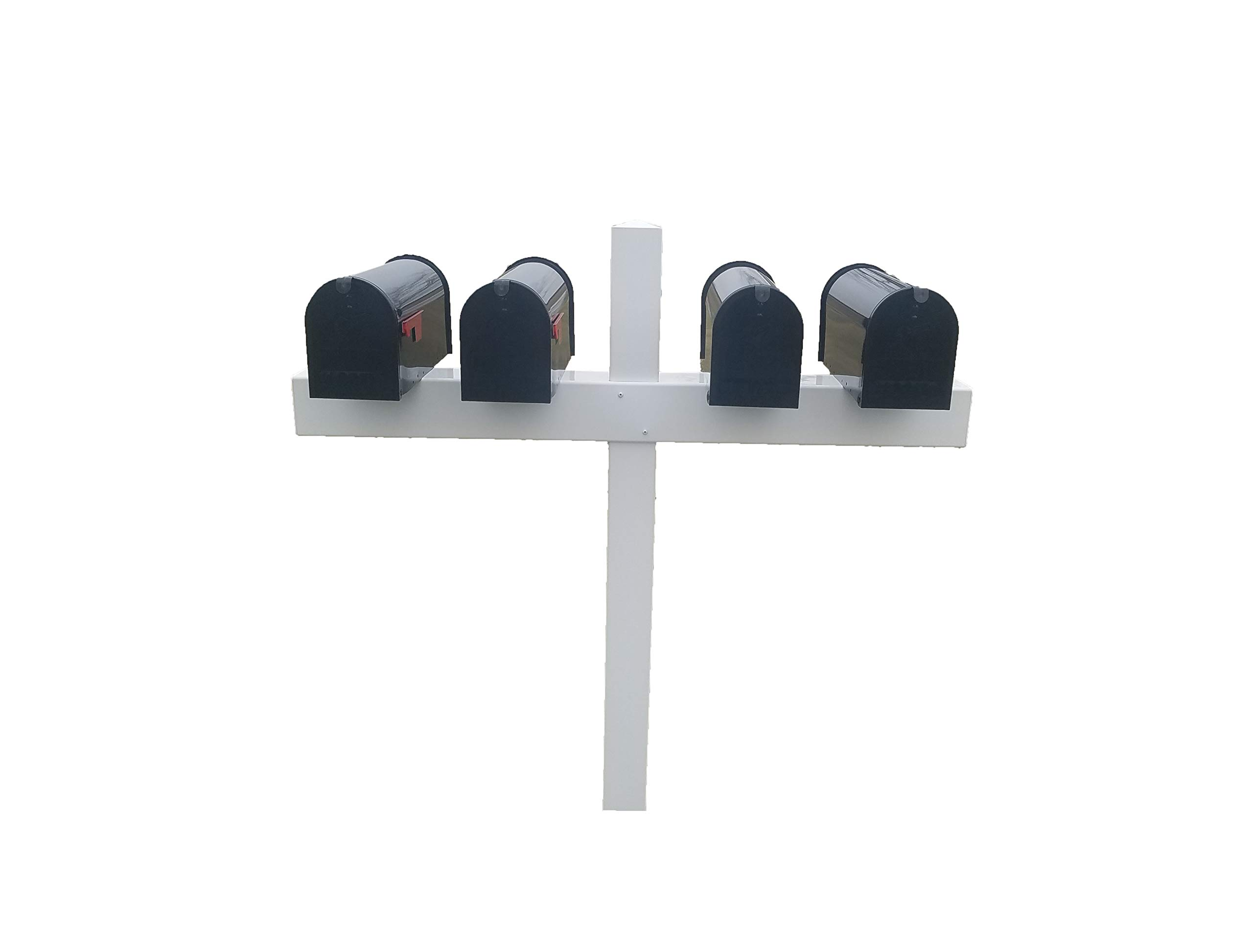 Handy Post for 4 Mailboxes, 54-in x 54-in, White, Vinyl Sleeve by Handy Post