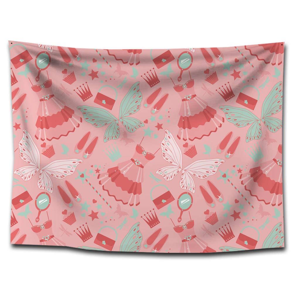 XINSU Home Chica Mariposa Estampado de Yoga Tapiz Colgante Tapiz Toallas de Playa Pinturas para el hogar Decorativo Mantel (Color : G0114 (1), ...
