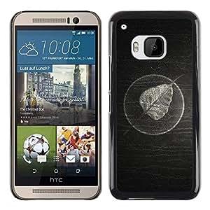 Be Good Phone Accessory // Dura Cáscara cubierta Protectora Caso Carcasa Funda de Protección para HTC One M9 // Minimalist Leaf On Wood