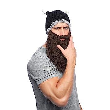 Barbarian Vagabond Beanie-sombrero de punto divertido y falsa ...