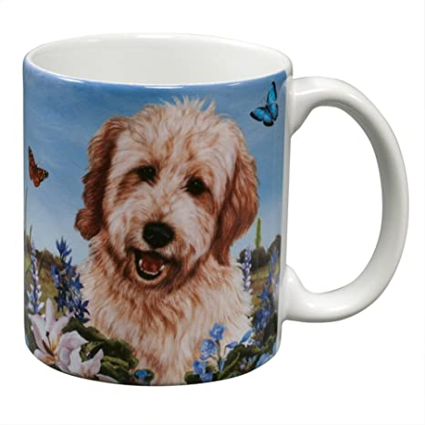 Goldendoodle Garden Party Fun Mug