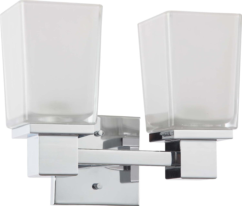 Amazoncom Nuvo Lighting Three Light Parker Vanity With - Damp rated bathroom light fixtures