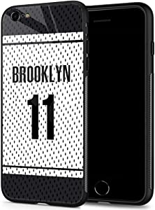 iPhone 6 Plus Cases, Tempered Glass iPhone 6s Plus Case Irving Jersey Pattern Design Black Cover Sport Case for iPhone 6/6s Plus 5.5-inch Brooklyn #11