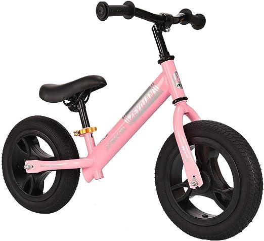 GJNWRQCY Bicicleta de Equilibrio para niños Bicicleta sin Pedal para Edades de 2 a 6 años Bicicleta de Bicicleta Deportiva para niños de 2 años Bicicletas para niños,Rosado: Amazon.es: Hogar