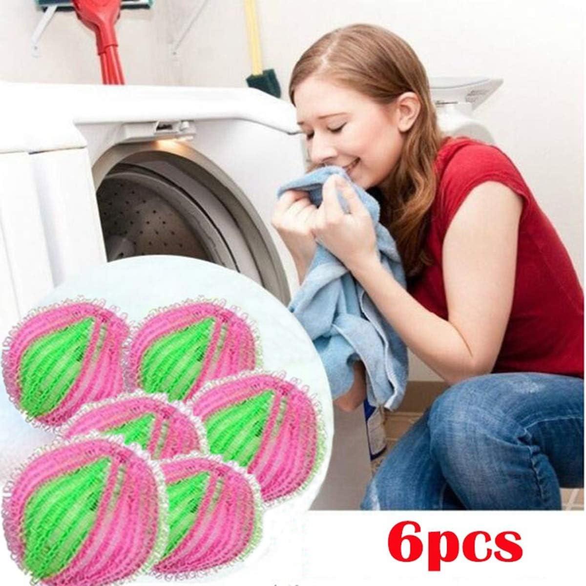 AISE 6 st/ücke Wiederverwendbare Haarf/änger Waschen W/äsche B/älle Hause Waschen W/äsche Werkzeuge Kleidung Pflege Pet Haar Fell Fusselentferner K/örperpflege