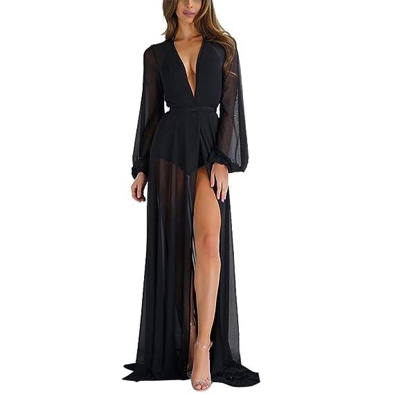 959d0d1ded Morwind Womens Summer Cover Up Swimwear Beach Long Maxi Summer Beach Party  Mesh Dress 😻😻😻 (Black