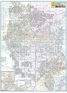 Las Vegas Valley Arterial Streets Wall Map Dry Erase Laminated ...