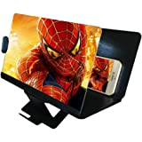 "DRIDOUAM Mobile Phone Screen Magnifier 8"" HD Screen Enlarger 3D Movies Amplifier Foldable Holder Stand Smartphones, PU Leather, Black"