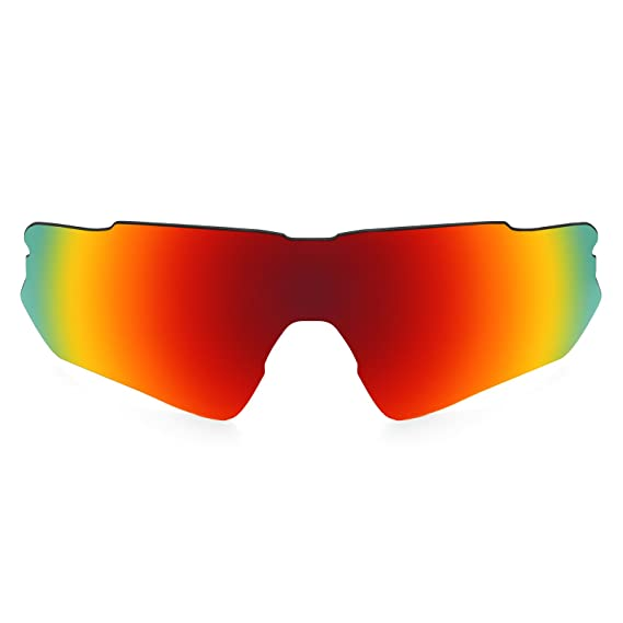 HKUCO Mens Replacement Lenses For Oakley RadarLock Pitch Sunglasses Red/Black Polarized y44KDdPMd