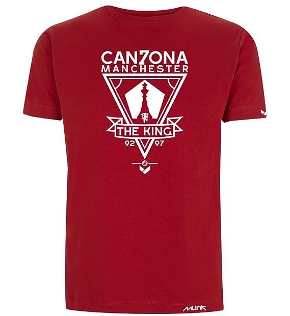 Münk - Eric Cantona- Camisetas de diseño retro fútbol vintage - Muñeco recortable gratis (
