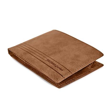 7bed169c03 Portafoglio Uomo in Vera Pelle - Wallet Classico e Sottile con Portamonete  - Formato orizzontale con