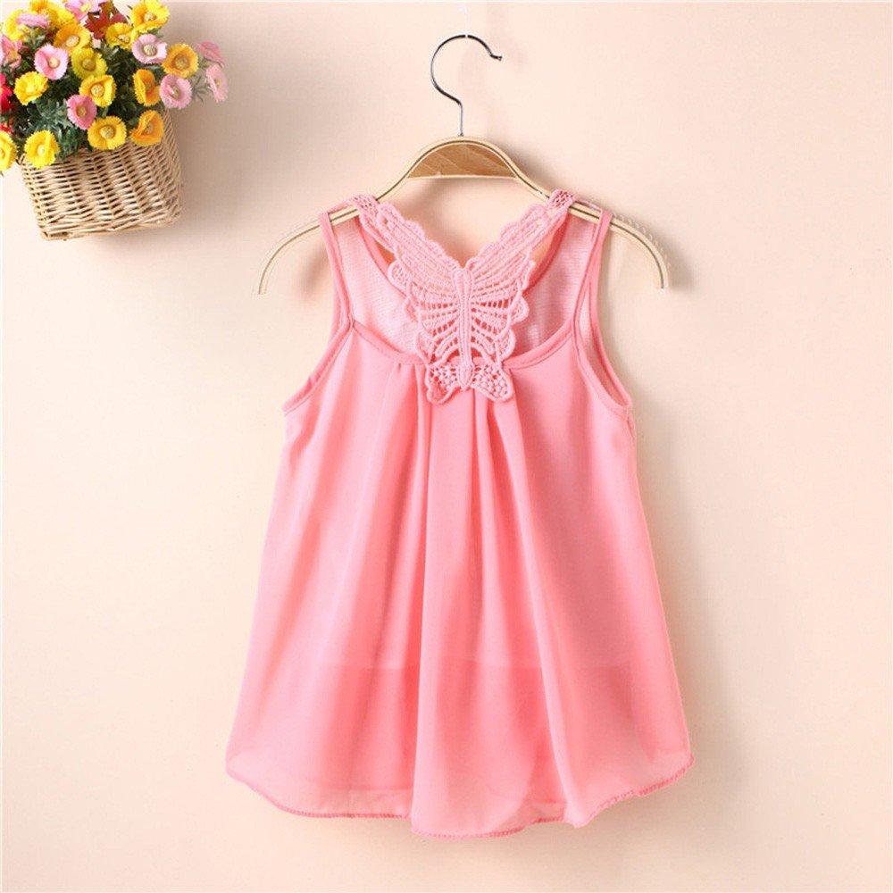 Baby Kleider SANFASHION Neugeborene M/ädchen Sommer Prinzessin Feste Blumen Bowknot Beil/äufige R/ückenfreie Kleid Kleidung Sommerkleider