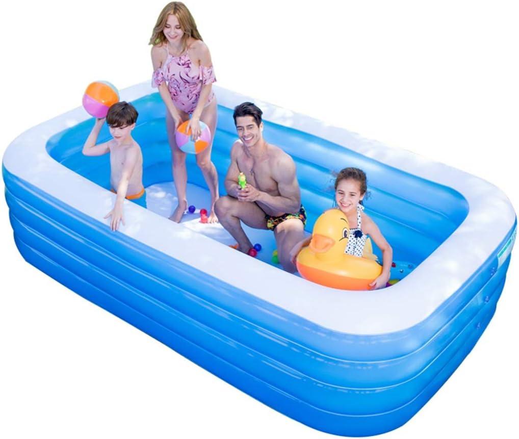 Bañeras Piscina for Adultos, for niños al Aire Libre Piscina for niños, Piscina de Gran tamaño de un Parque acuático Infantil, 4 Airbags Separados (Color : Blue, Size : 318 * 180 * 75cm)