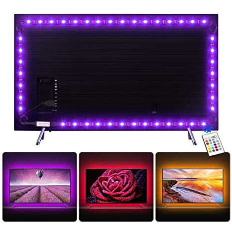 Amazoncom Nicewell Tv Led Backlight Usb Led Strip Lights