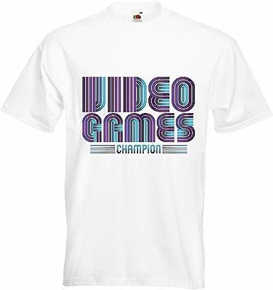 T-Shirt Camiseta Remera LANPARTY Videojuegos Liga CAMPEONES Juegos de vídeo Friki LANParty Videojuegos Liga Juegos de vídeo Friki en Blanco: Amazon.es: Ropa y accesorios