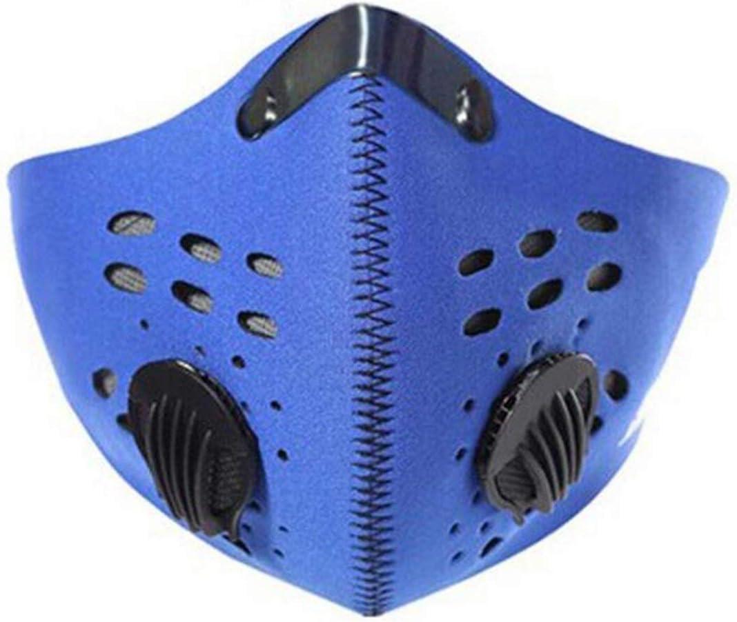 Pudincoco Antivaho pm2.5 m/áscara de carb/ón Activado Azul