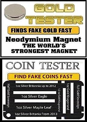 Tierras raras neodimio Imán de TDS oro, plateado y monedas -10 millimeter x 2,0 mm gran de la
