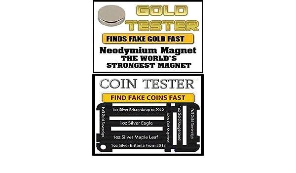 Tierras raras neodimio Imán de TDS oro, plateado y monedas -10 millimeter x 2,0 mm gran de la: Amazon.es: Bricolaje y herramientas