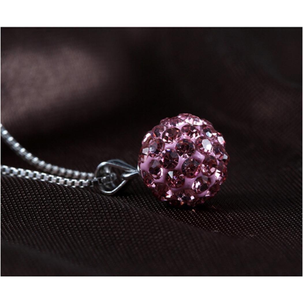 Skylin Women Round Rhinestones Pendant For Necklace Fashion Jewelry