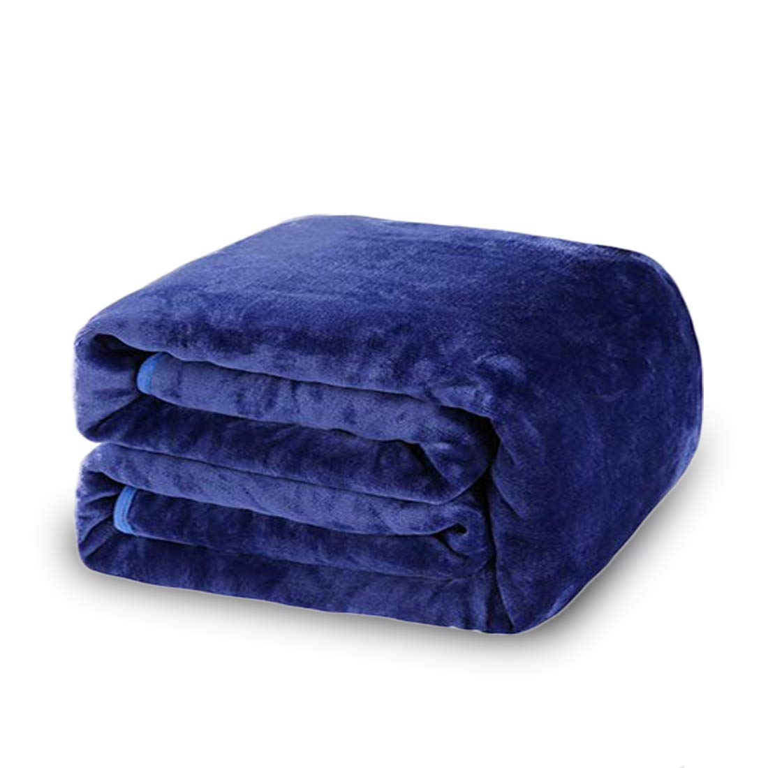 (Travel (130cm -by-150cm), Dark Blue) - Balichun Luxury 330 GSM Fleece Blanket Super Soft Warm Fuzzy Lightweight Bed or Couch Blanket Twin/Queen/King Size(Dark Blue, Travel) B01N4ENXH9 ロイヤルブルー Travel (50-Inch-by-61-Inch)