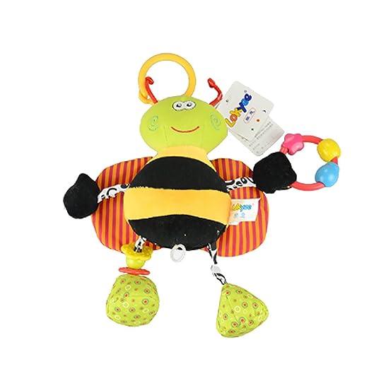 Hemore Baby Products 1 pieza bebé tira de golpes para colgar carrito de bebé carrito cama cochecito de peluche juguete (lindo negro abeja): Amazon.es: Bebé