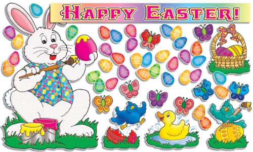 Scholastic TF3078 Happy Easter! Bulletin Board